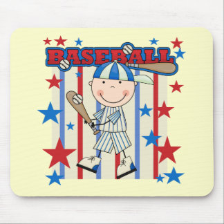BASEBALL Boy Up at Bat T-shirts and Gifts Mouse Pad