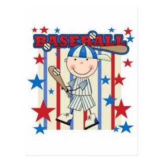 BASEBALL Boy Up at Bat T-shirts and Gifts Postcard
