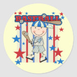 BASEBALL Boy Up at Bat T-shirts and Gifts Round Stickers