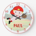 Baseball Boy Wall Clock