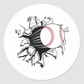 Baseball Breakthrough Classic Round Sticker
