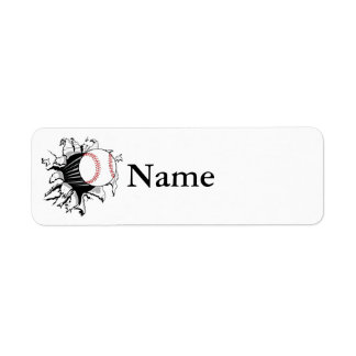 Baseball Breakthrough Custom Return Address Labels