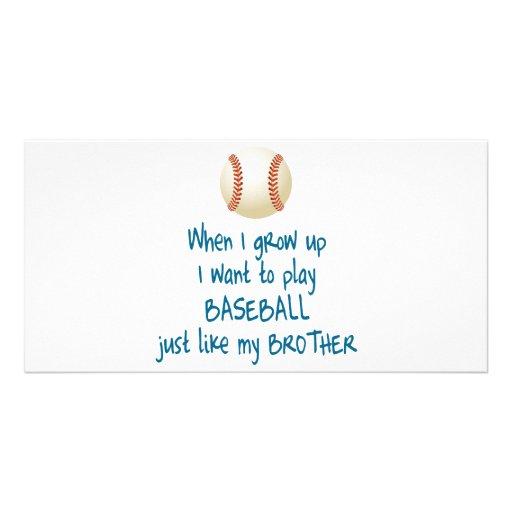 Baseball Brother Photo Greeting Card