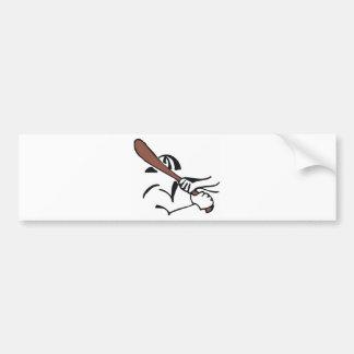 baseball  brown bat bumper sticker