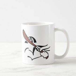 baseball  brown bat coffee mug