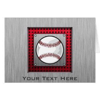 Baseball; Brushed Aluminum look Card
