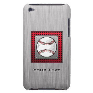 Baseball; Brushed Aluminum look iPod Touch Cover