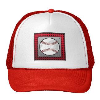 Baseball; Brushed Aluminum look Trucker Hat
