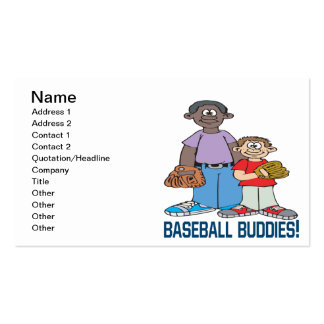 Baseball Buddies Double-Sided Standard Business Cards (Pack Of 100)