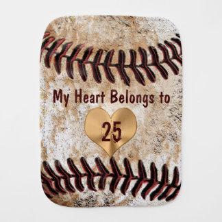 Baseball Burp Cloth My Heart Belongs to Daddy's
