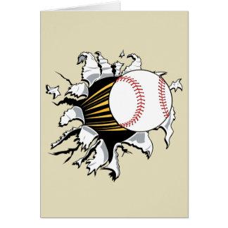 Baseball burst notecards stationery note card