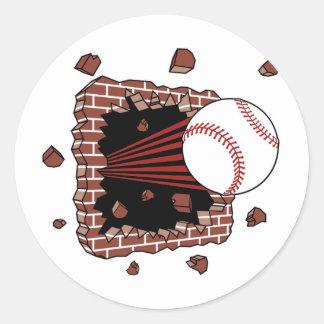 Baseball Burster Classic Round Sticker