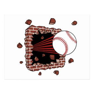 Baseball Burster Postcard