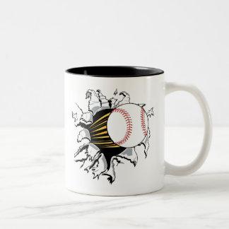 Baseball Burster Two-Tone Coffee Mug