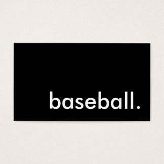 baseball. business card