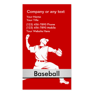 Baseball Business Cards Business Cards