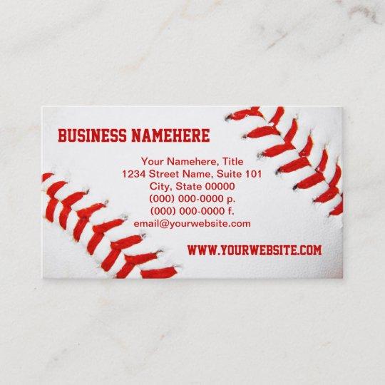 Baseball business cards zazzle baseball business cards colourmoves