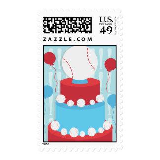 Baseball Cake Postage Stamp