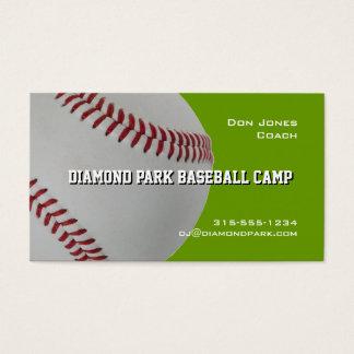 Baseball Camp Coach Business Card