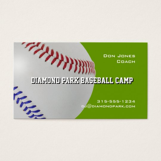 Baseball Camp Coach_Color Laces_All-American Business Card