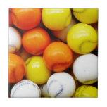 Baseball Candy Ceramic Tile