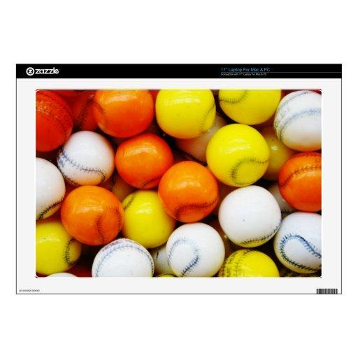 """Baseball Candy 17"""" Laptop Skins"""