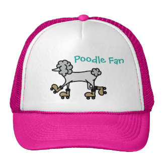 Baseball cap for girls with poodle trucker hat
