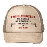 Baseball Cap-I will Protect, My Family... Trucker Hats