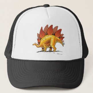Baseball Cap Stegosaurus Cartoon Dinosaur