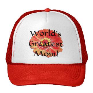 Baseball Cap/Trucker's Hat - Red Zinnia