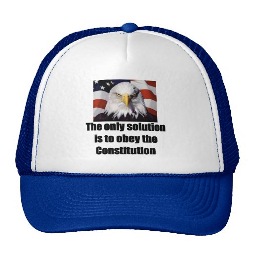 Baseball Cap w/ Bald Eagle/ The only solution is Trucker Hat