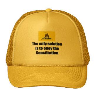 Baseball Cap w/ Gadsden Flag/ The only solution is Trucker Hat