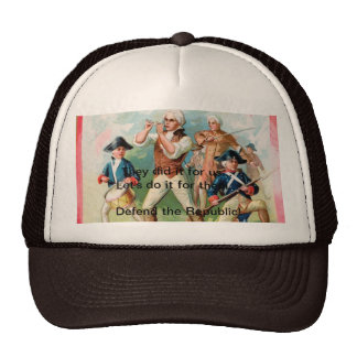 """Baseball Cap w/ """"Spirit of 76""""- They did it for us Trucker Hat"""