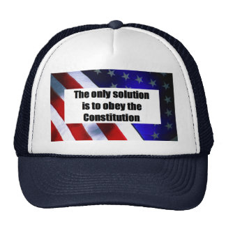 Baseball Cap w/ THE ONLY SOLUTION IS TO OBEY Trucker Hat