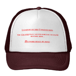 Baseball Cap w/ USURPERS OF THE CONSTITUTION Trucker Hat