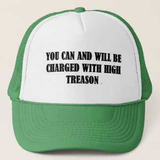 Baseball Cap w/ YOU CAN AND WILL BE CHARGED WITH