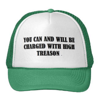 Baseball Cap w/ YOU CAN AND WILL BE CHARGED WITH Trucker Hat