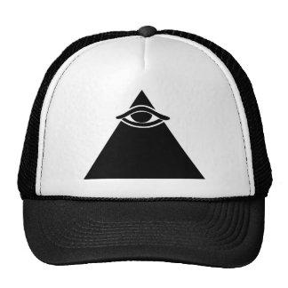 Baseball cap with all seeing eye trucker hat