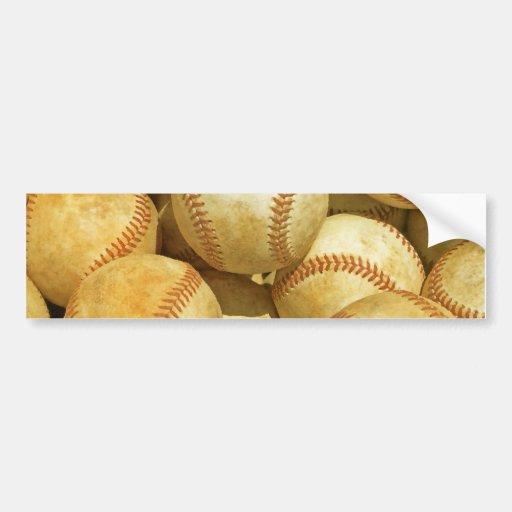 Baseball Car Bumper Sticker