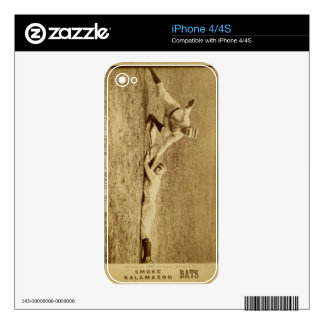 Baseball Card 1887 Decal For iPhone 4