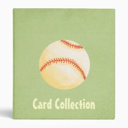 Baseball card collection 3 ring binder