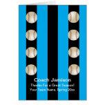 Baseball Card for Coach Blue/Black Blank Inside