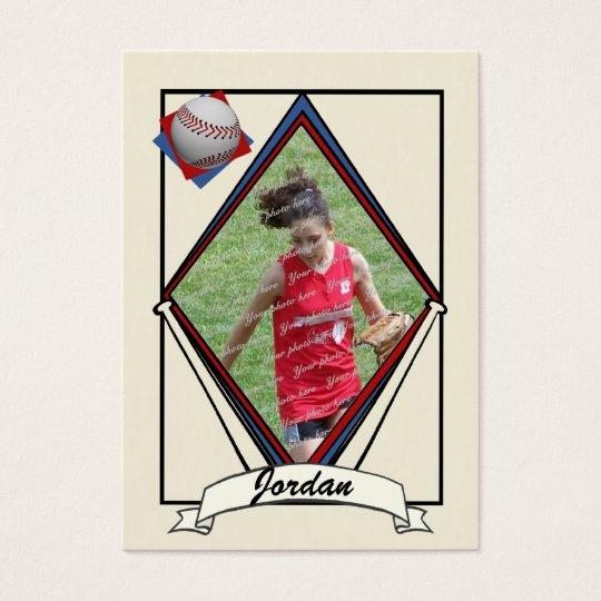 Baseball Card Thank You Favor