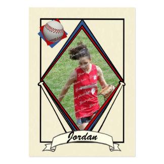 Baseball Card Thank You Favor Business Card