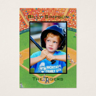 Baseball trading card business cards templates zazzle baseball cards colourmoves