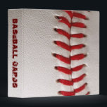 """Baseball Cards Scrapbook 3 Ring Binder<br><div class=""""desc"""">From Spring training to the World Series.  Protect those perfect rookie cards with this Baseball 3 Ring Binder and enjoy them for years to come.</div>"""