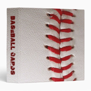 Baseball Cards Scrapbook 3 Ring Binder at Zazzle