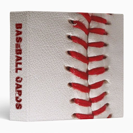Binder with baseball closeup photo