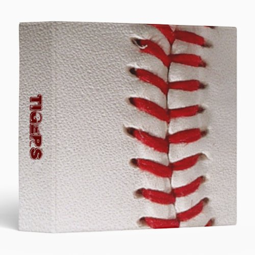 Binder with baseball closeup photo