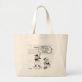 Baseball Cartoon 4879 Large Tote Bag